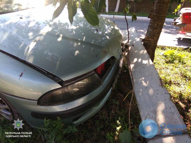Измаил: Mitsubishi после столкновения с легковушкой откинуло на бетонный столб