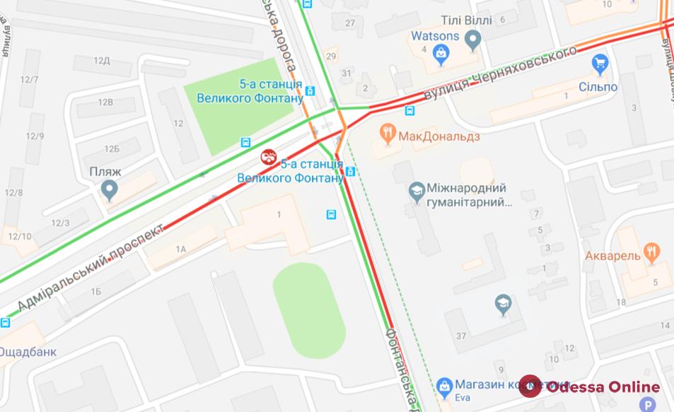 Дорожная обстановка в Одессе: много ДТП и свободный центр