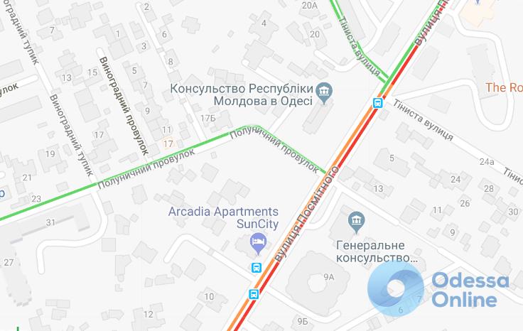 Дорожная обстановка в Одессе: пробки по всему городу