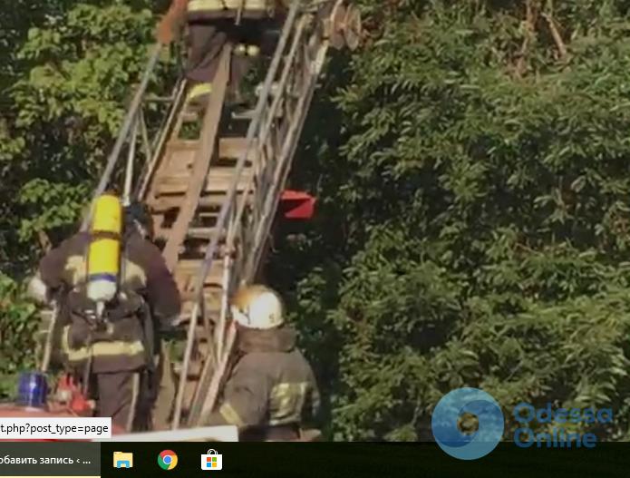 В Одессе на поселке Котовского сгорела квартира (видео)