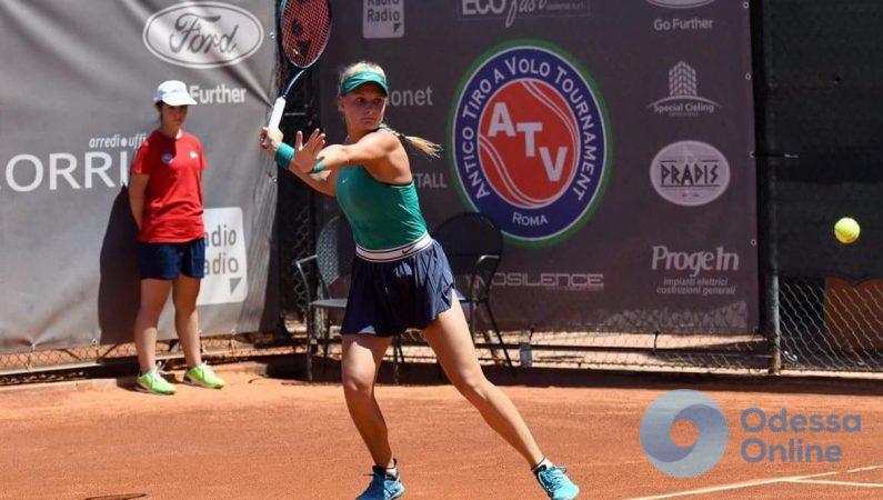 Одесская теннисистка – во втором раунде турнира с призовым фондом 100 000 долларов