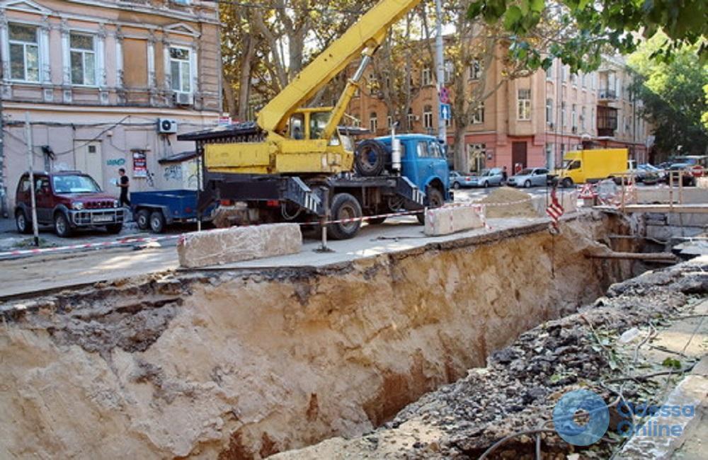 В центре Одессы частично ограничат движение из-за ремонта теплотрассы