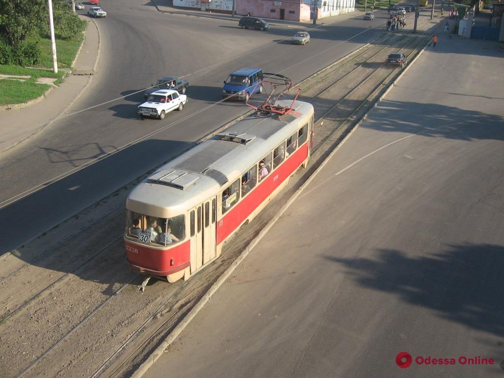 В Одессе на Балковской не ходят трамваи (обновлено)