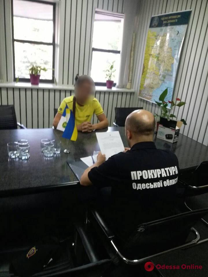 Одесская область: таможенник подозревается в злоупотреблении служебным положением