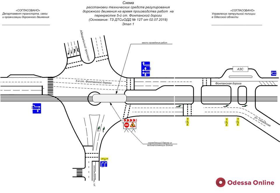Одесса: ремонт дороги на 5 станции Фонтана будет проходить в 2 этапа и продлится 2 месяца