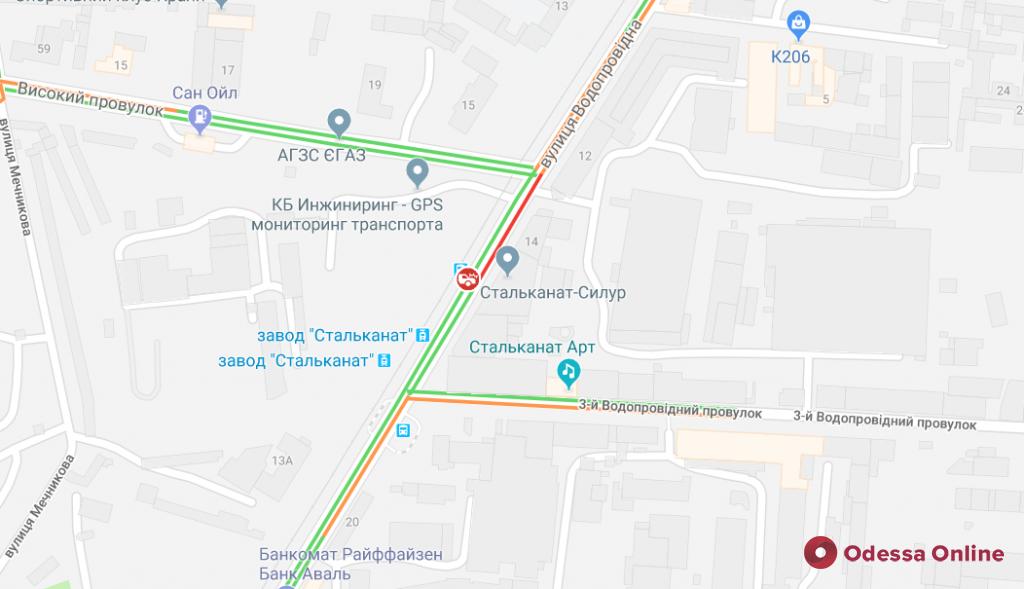 Дорожная обстановка в Одессе: ДТП на Водопроводной и Привокзальной площади