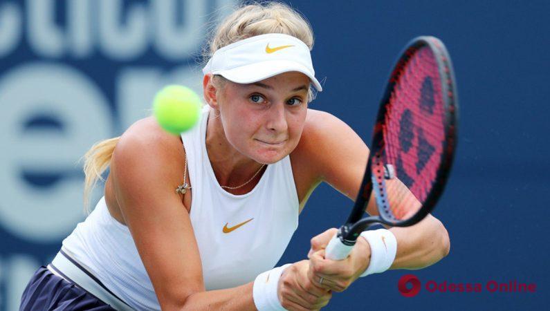Юная одесская теннисистка дала бой девятой ракетке мира в США