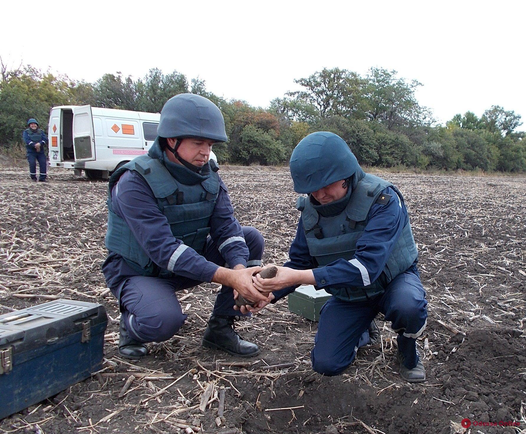 В Одесской области пиротехники уничтожили боеприпасы времен Второй мировой войны