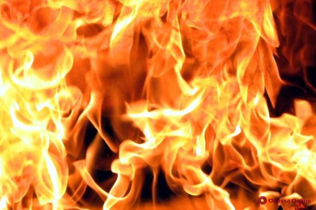 В Одесской области при пожаре пострадала пожилая женщина