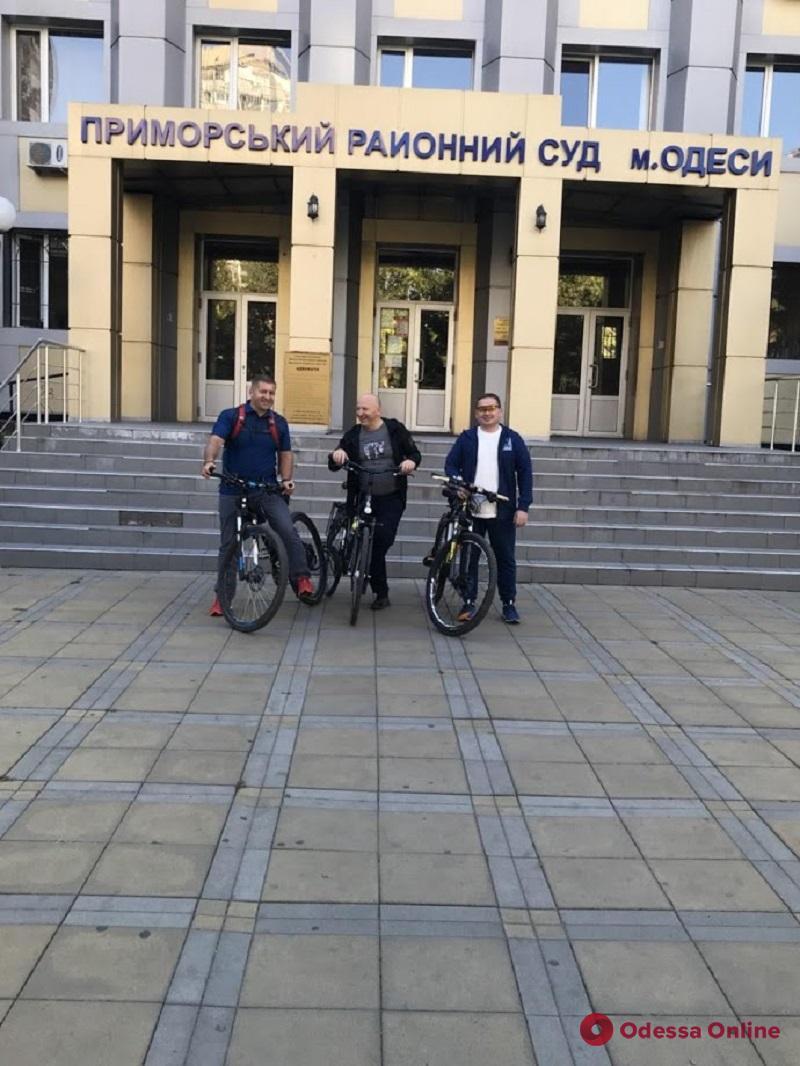 Одесские судьи пересели на велосипеды (фото)