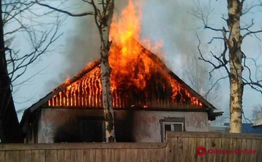 В Одесской области тушили пожар в частном доме