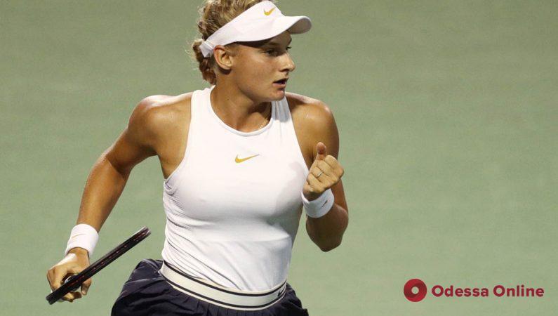 Юная одесситка вышла в четвертьфинал теннисного турнира в Чикаго