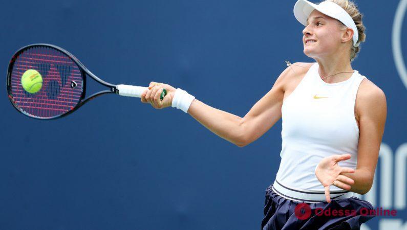 Теннис: юная одесситка покидает Брисбен