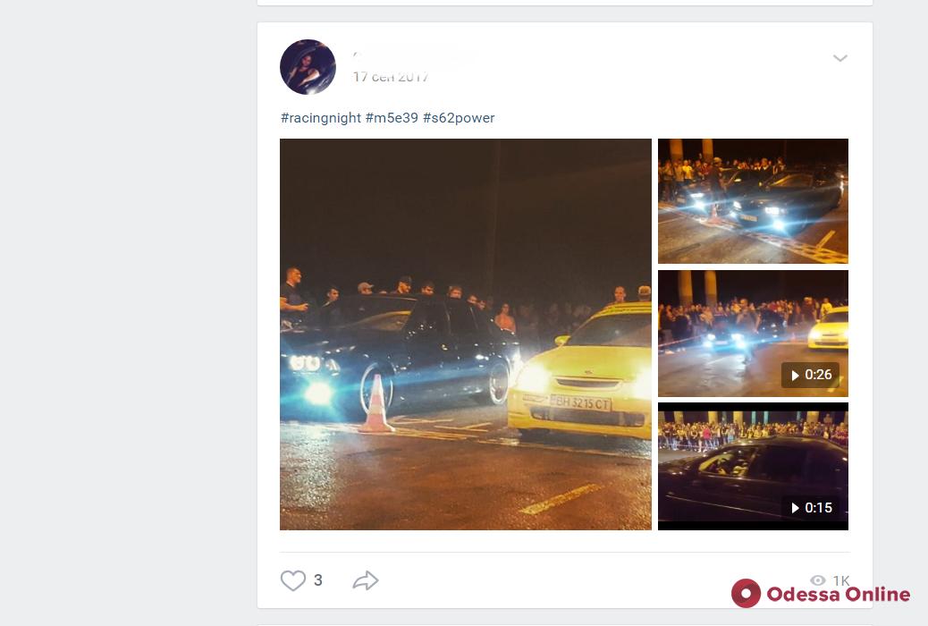 Любитель быстрой езды: виновник ДТП на Фонтане оказался дрифтером (видео)