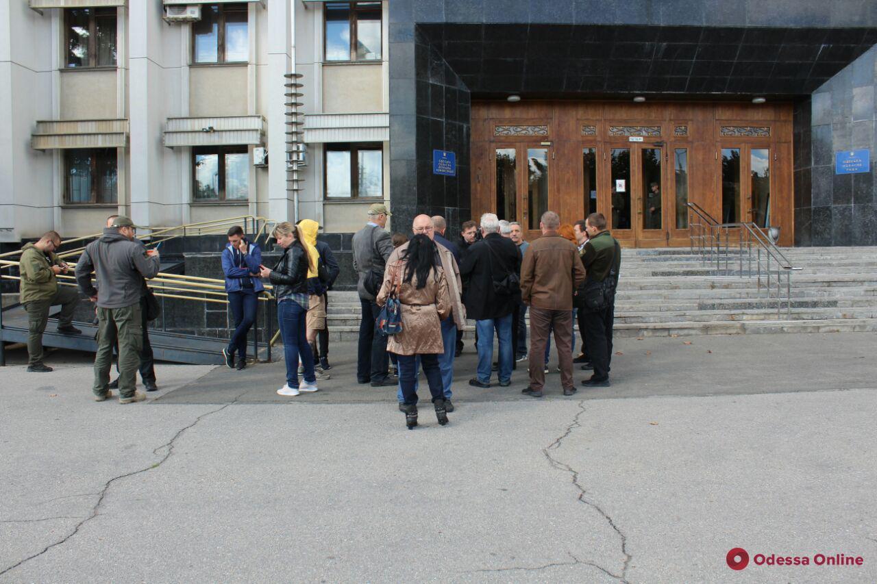 Одесские общественники протестовали перед облгосадминистрацией
