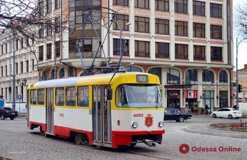 В Одессе снова курсирует трамвай №10