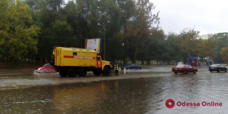 В Одесской области спасатели откачивали воду после сильного ливня