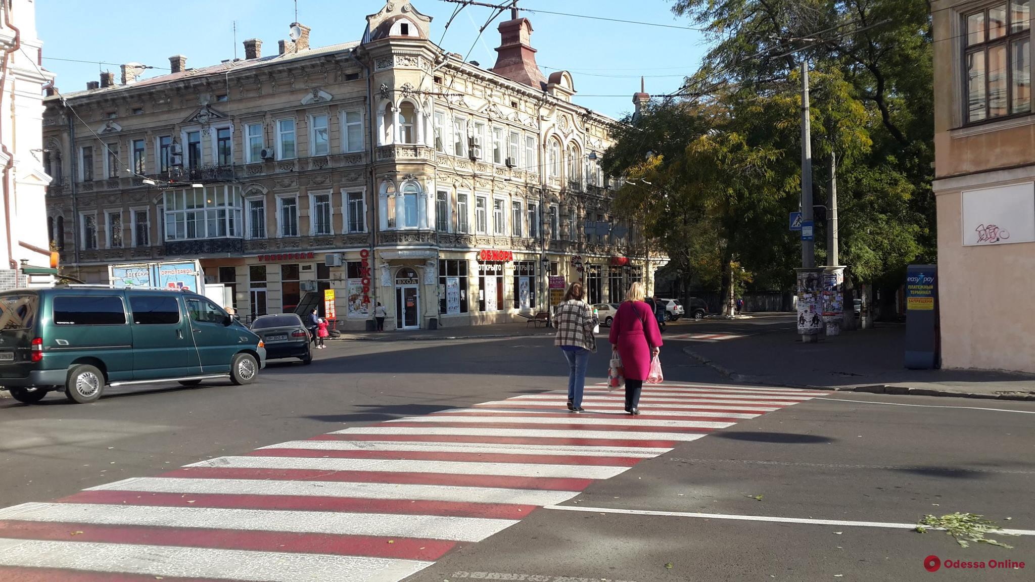 В центре Одессы обновили дорожную разметку