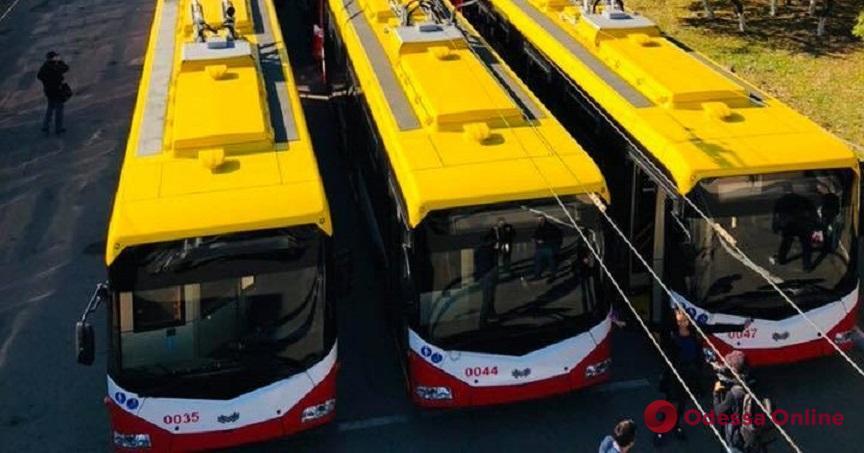 Все в сборе: Одесса получила последнюю партию троллейбусов из Беларуси