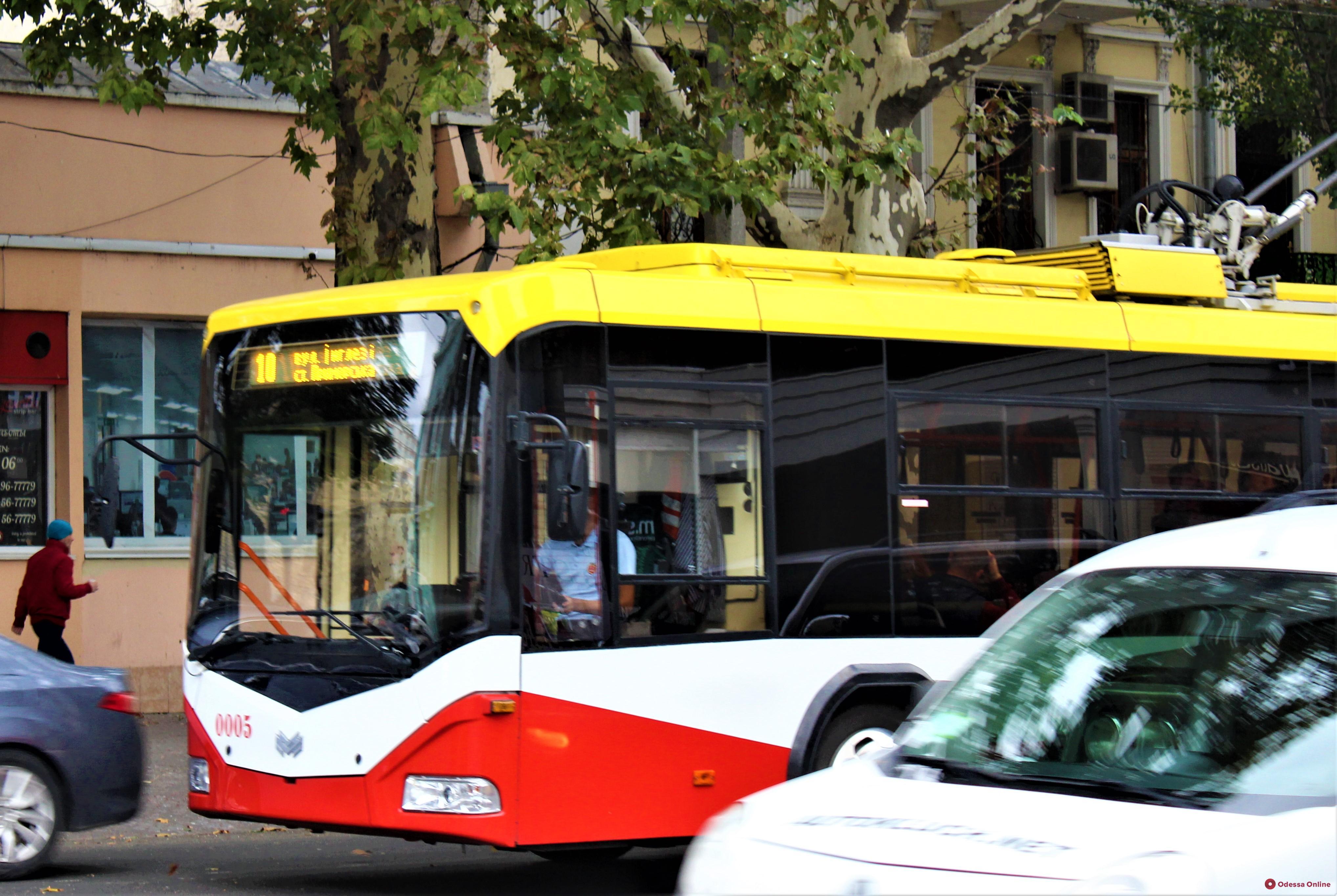 В Одессе из-за обрыва проводов не ходят троллейбусы