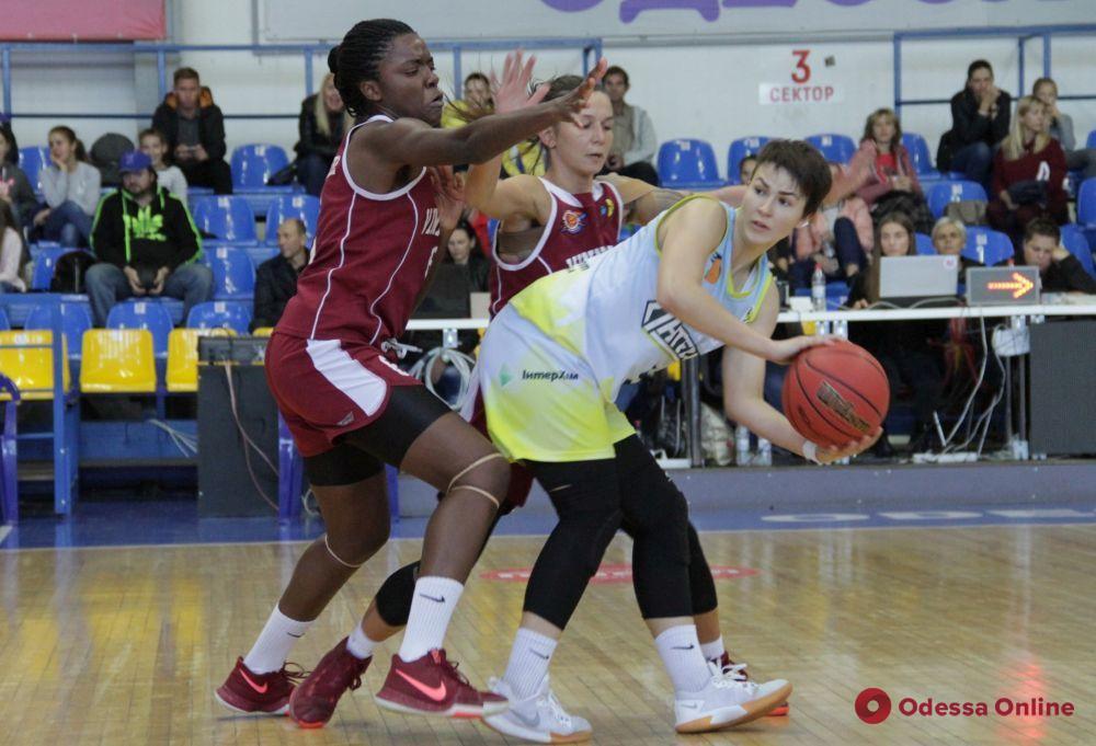 Одесские баскетболистки проиграли свой первый матч в сезоне