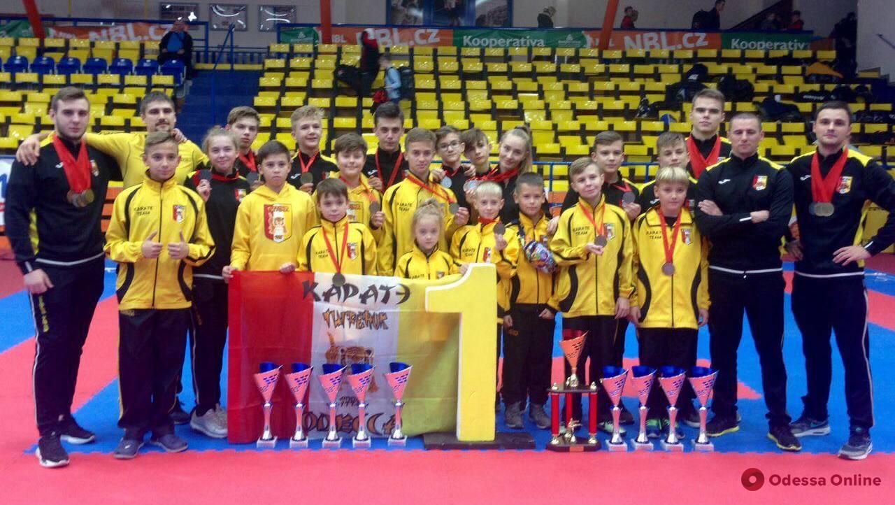 Одесские каратисты завоевали 28 медалей международного турнира в Чехии