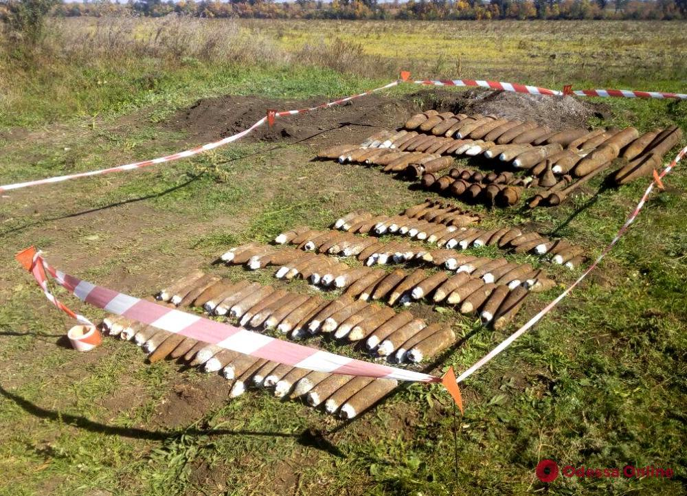 В Одесской области обнаружили большое количество боеприпасов