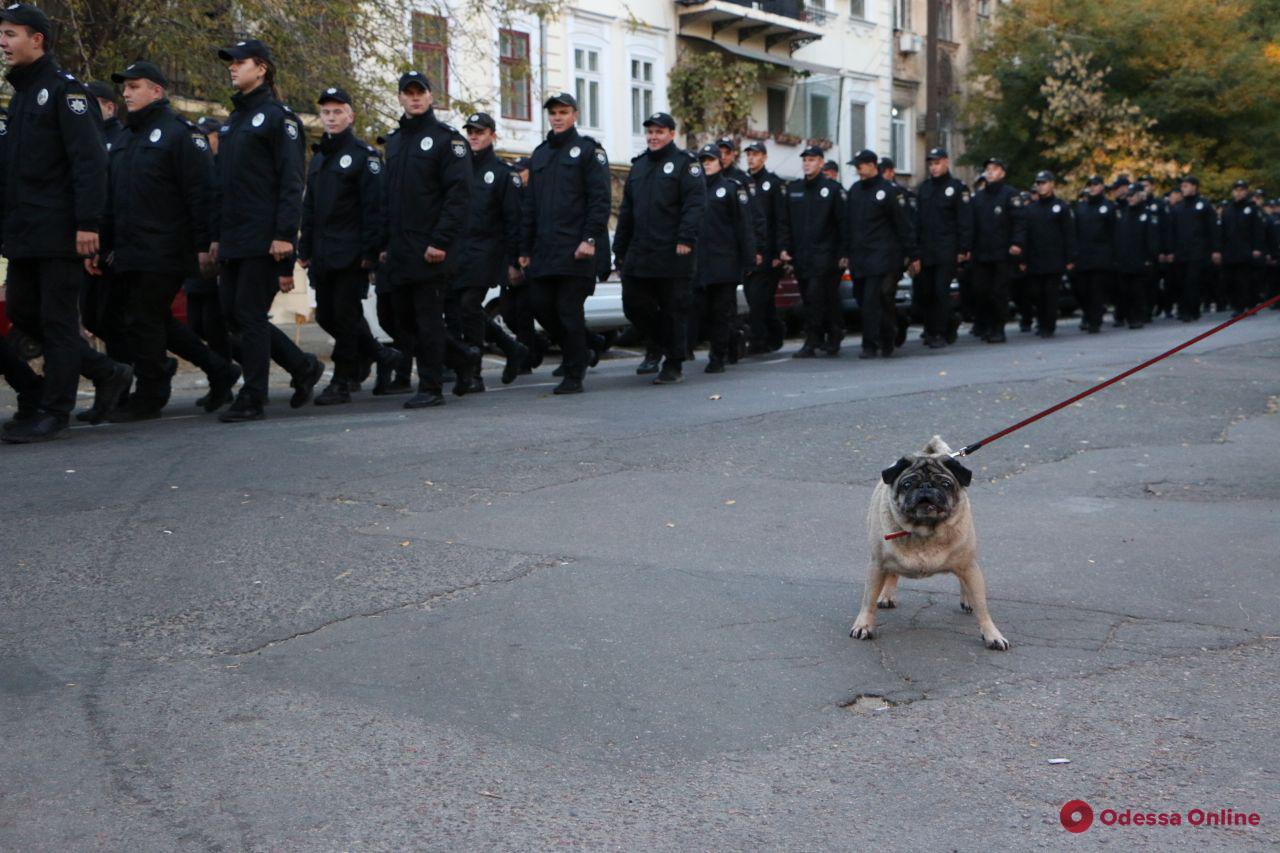Накануне Дня защитника Украины курсанты университета МВД прошли торжественным маршем (фоторепортаж)