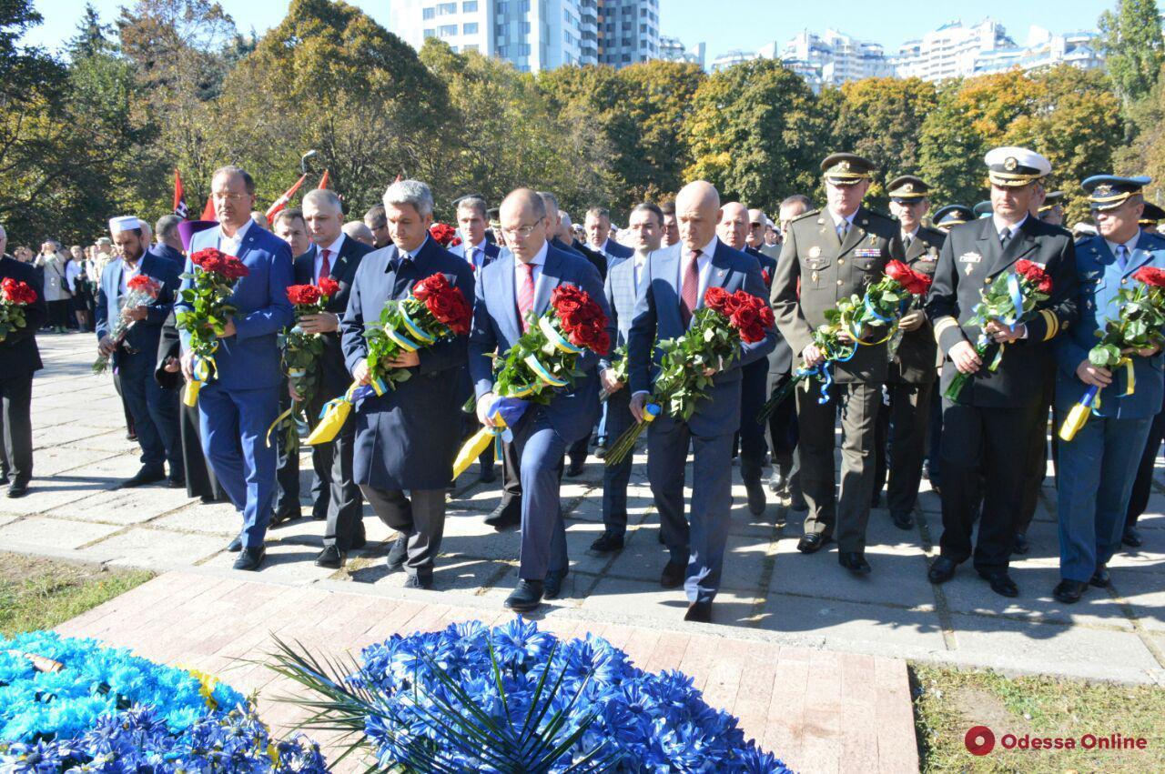 В Одессе отмечают день защитника Украины (фоторепортаж)