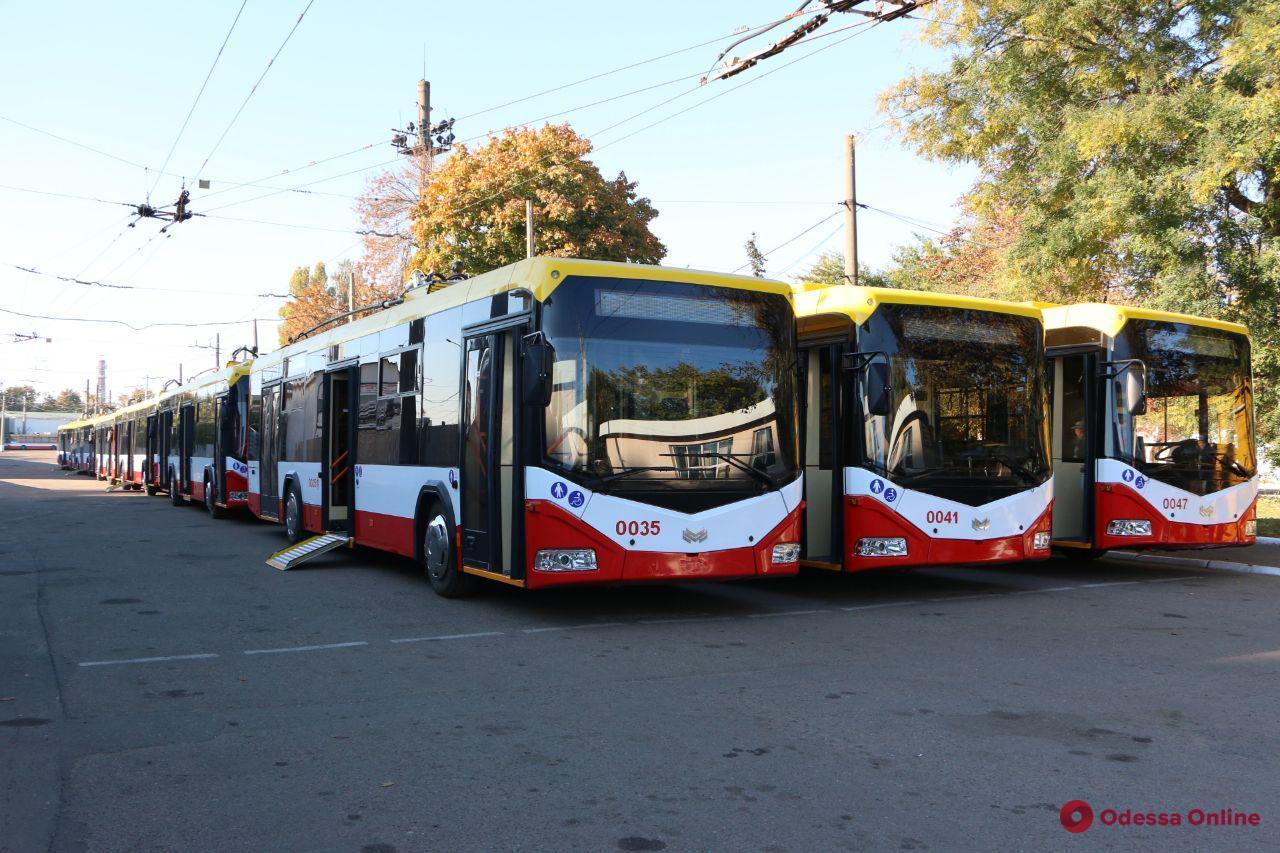 Одесса: новые белорусские троллейбусы выходят на маршруты города (фото)
