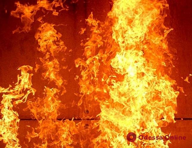 Ночью под Одессой сгорел шиномонтаж