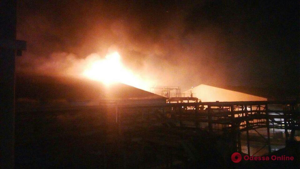 Под Одессой масштабный пожар: горит завод «Дельта-Вилмар» (обновляется)