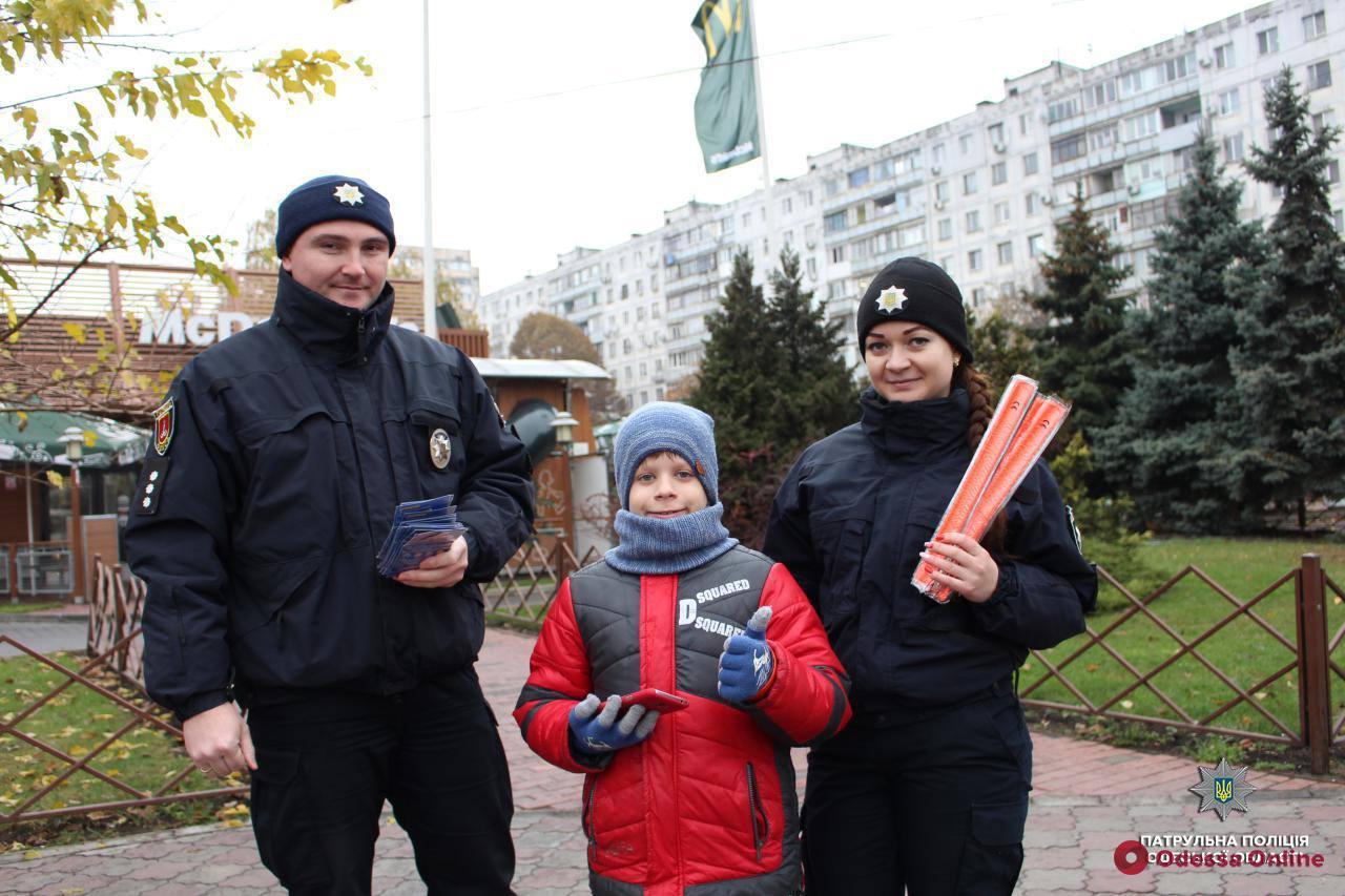Одесские патрульные «засветили» юных пешеходов (фото)