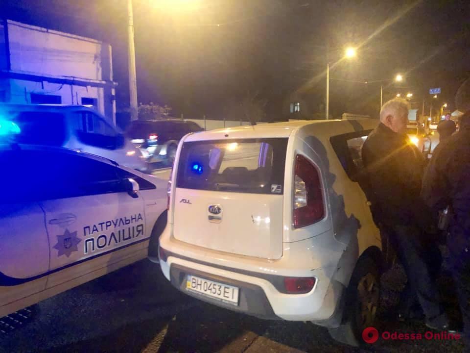 В Одессе поймали вдрызг пьяного водителя (видео)
