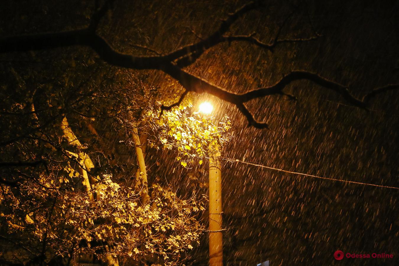 В Одессе и области ожидается налипание мокрого снега