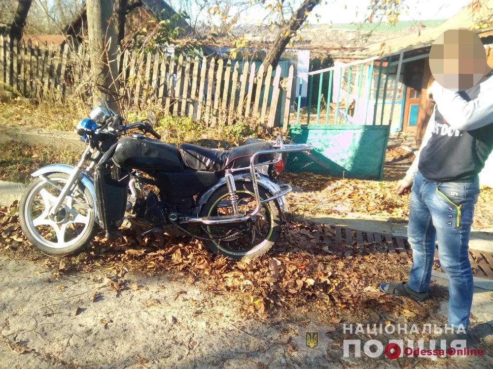 В Одесской области парень угнал мопед «просто покататься»