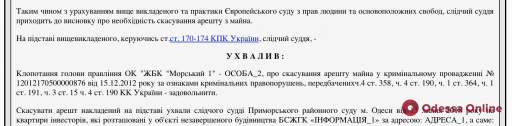 Провокации псевдоинвесторов провалились: суд снял арест с ряда квартир ЖК «Аквамарин»