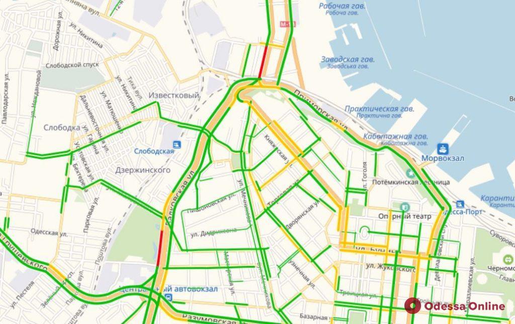 Одесские пробки: «сложные» дороги на поселке Котовского и Таирова
