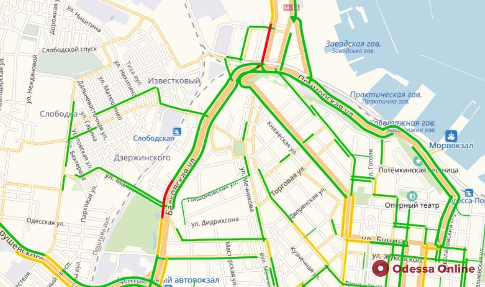 Дорожная обстановка в Одессе: пробки на поселке Котовского, Пересыпи и Черемушках