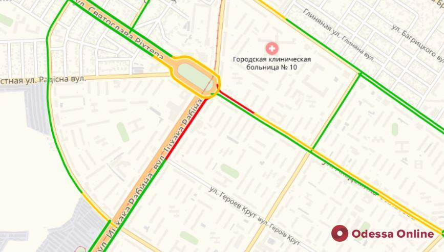 Дорожная обстановка в Одессе: большая пробка на Краснова