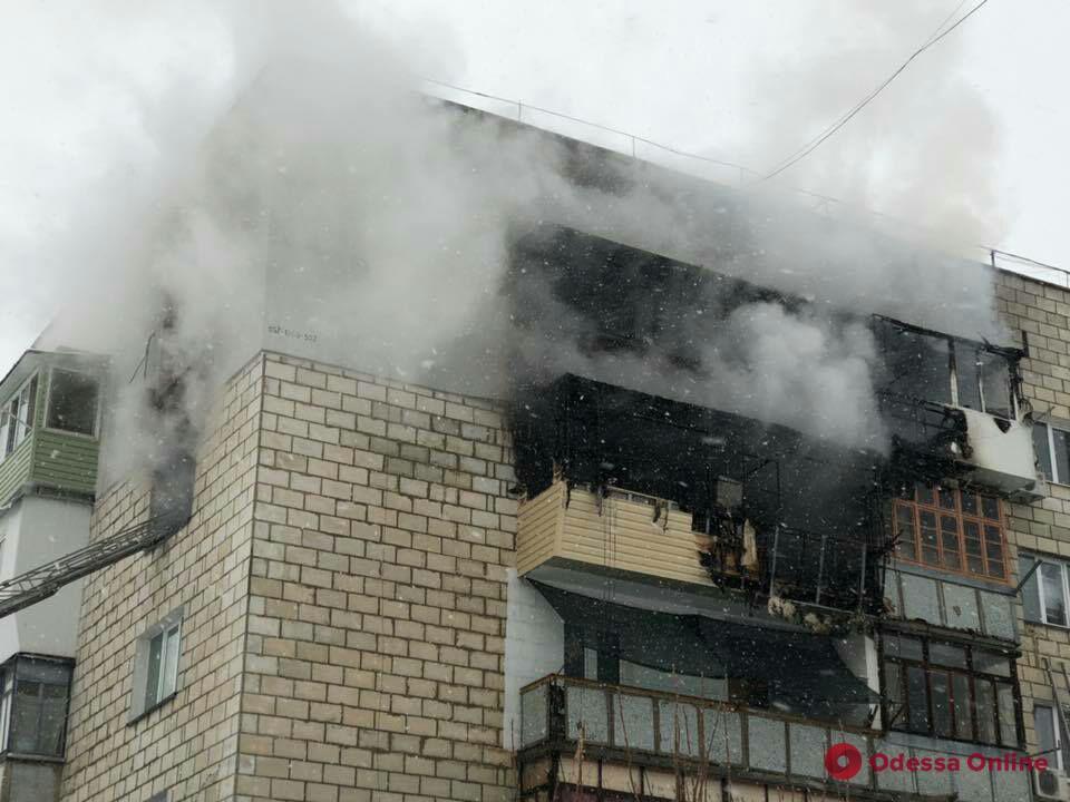 В Измаиле при пожаре в пятиэтажке пострадал мужчина