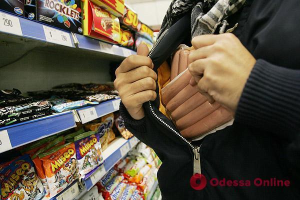 В Одессе поймали серийного магазинного вора