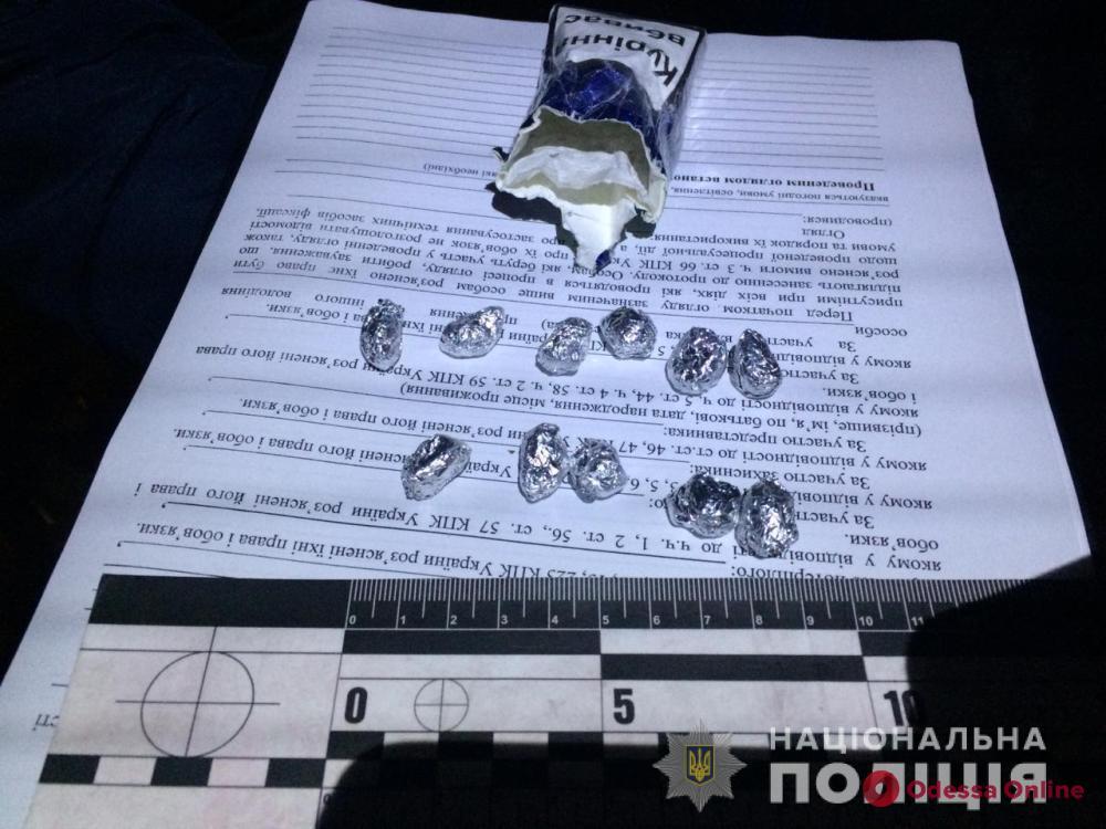 В Черноморске задержали с поличным закладчика метадона