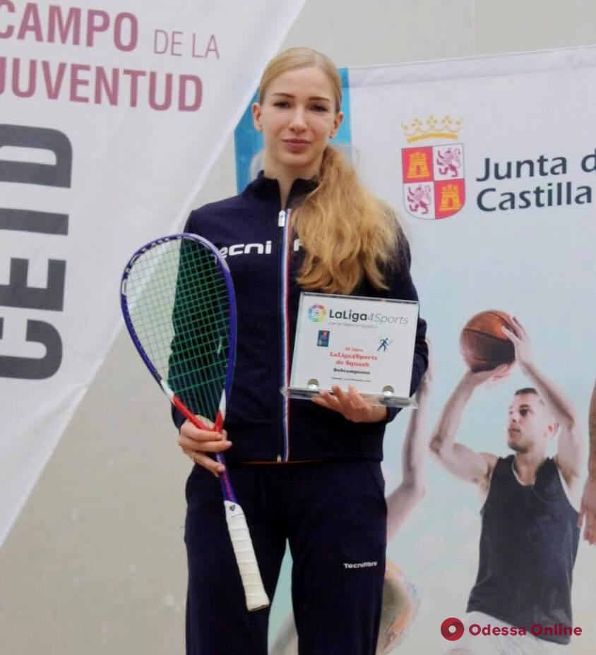 Сквош: одесситка остановилась в шаге от победы в международном турнире в Испании