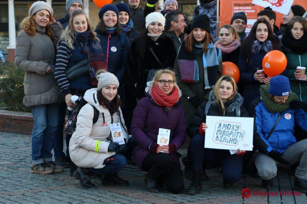 В центре Одессы прошла международная акция против насилия