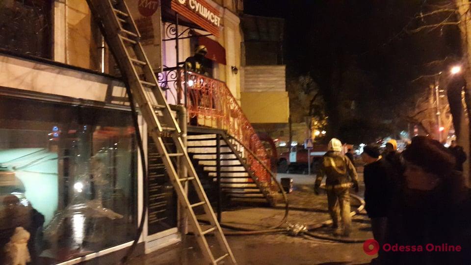 В центре Одессы произошел пожар