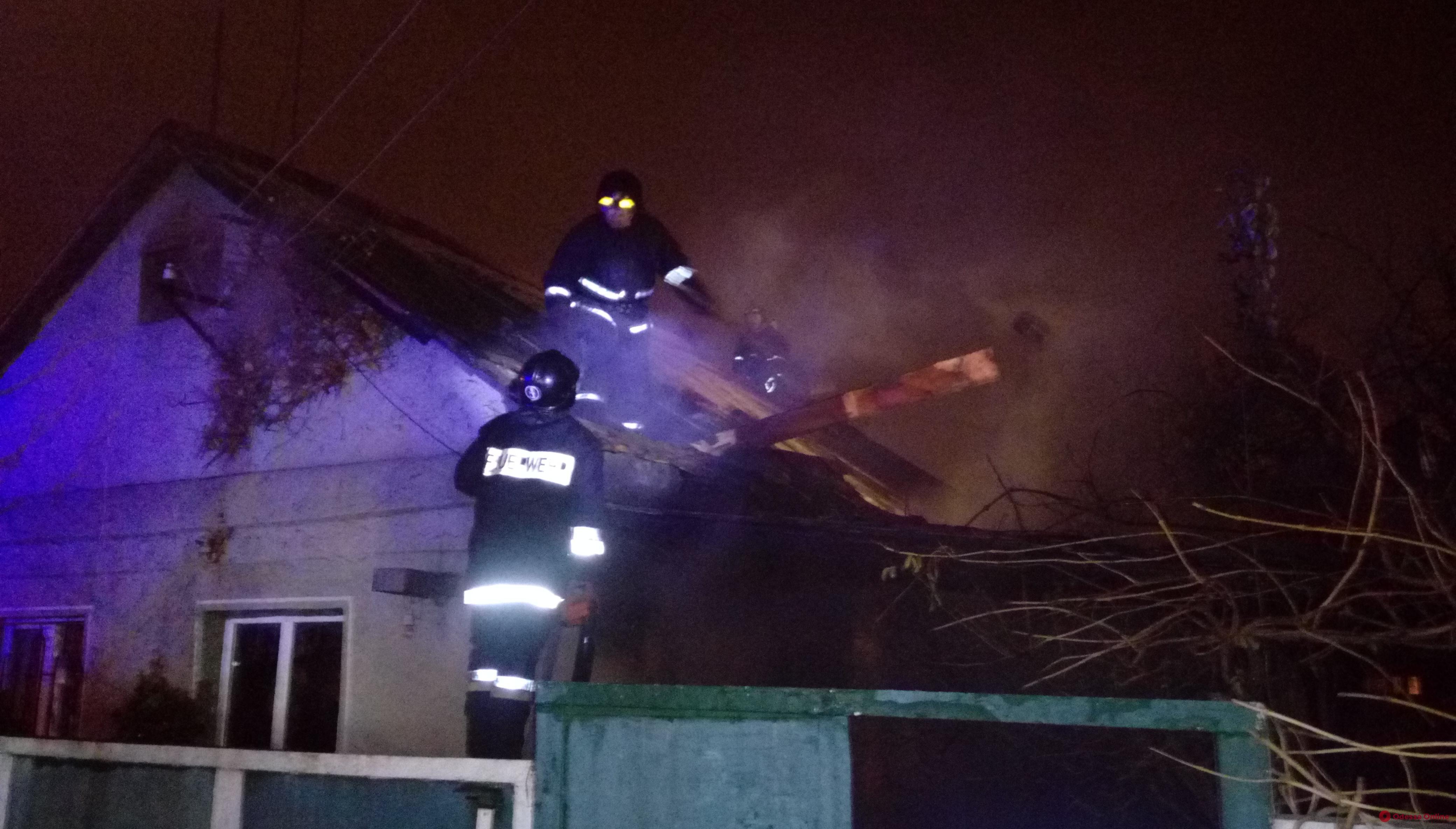 Одесса: во время пожара в частном доме погибла женщина