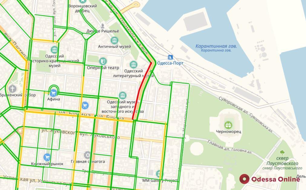 Одесские пробки: сложная дорога с Таирова в центр