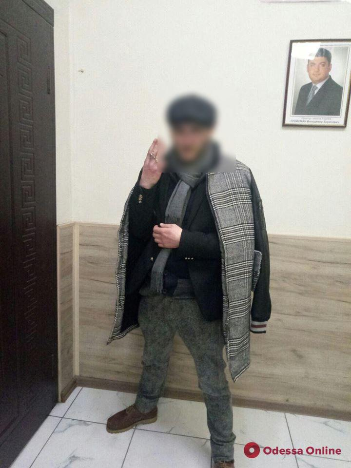 На Дерибасовской поймали грабителя