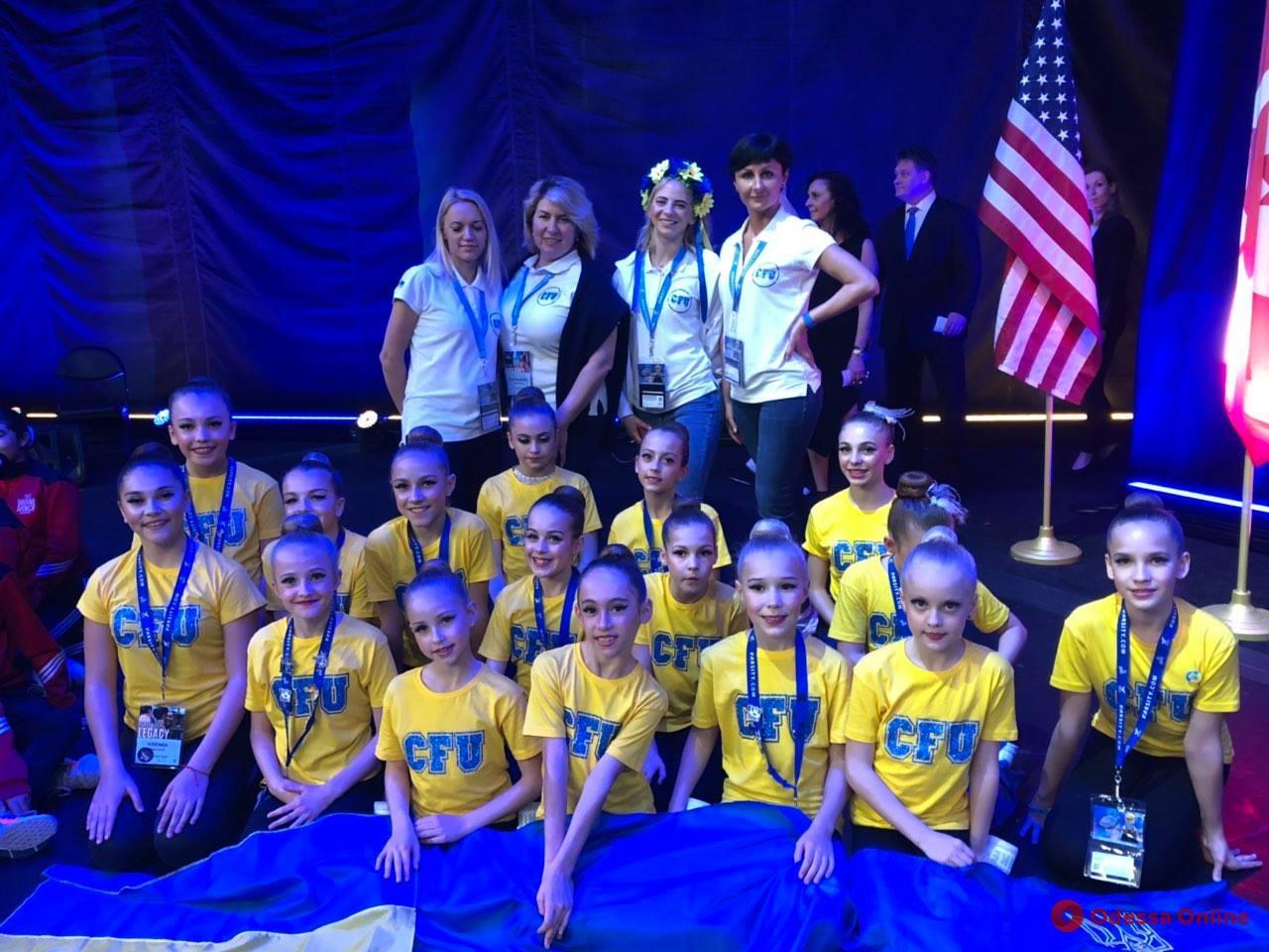 Одесские школьницы завоевали два «золота» чемпионата мира по черлидингу